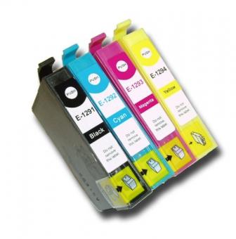 Qualy-Print Tintenpatrone Set T129540 XL (C,M,Y,Bk)