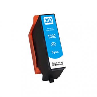 Qualy-Print Tintenpatrone wie Epson 202XL, cyan 9.5ml
