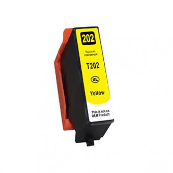 Qualy-Print Tintenpatrone wie Epson 202XL, yellow 9.5ml