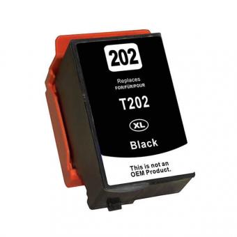 Qualy-Print Tintenpatrone wie Epson 202XL, Epson 202 schwarz black 16ml